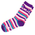 Adult Purple Bright Stripes Socks