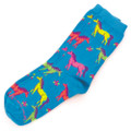 Adult Neon Horses Socks