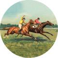 Vintage Horses Coaster Set