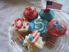 Mini USA Cupcakes