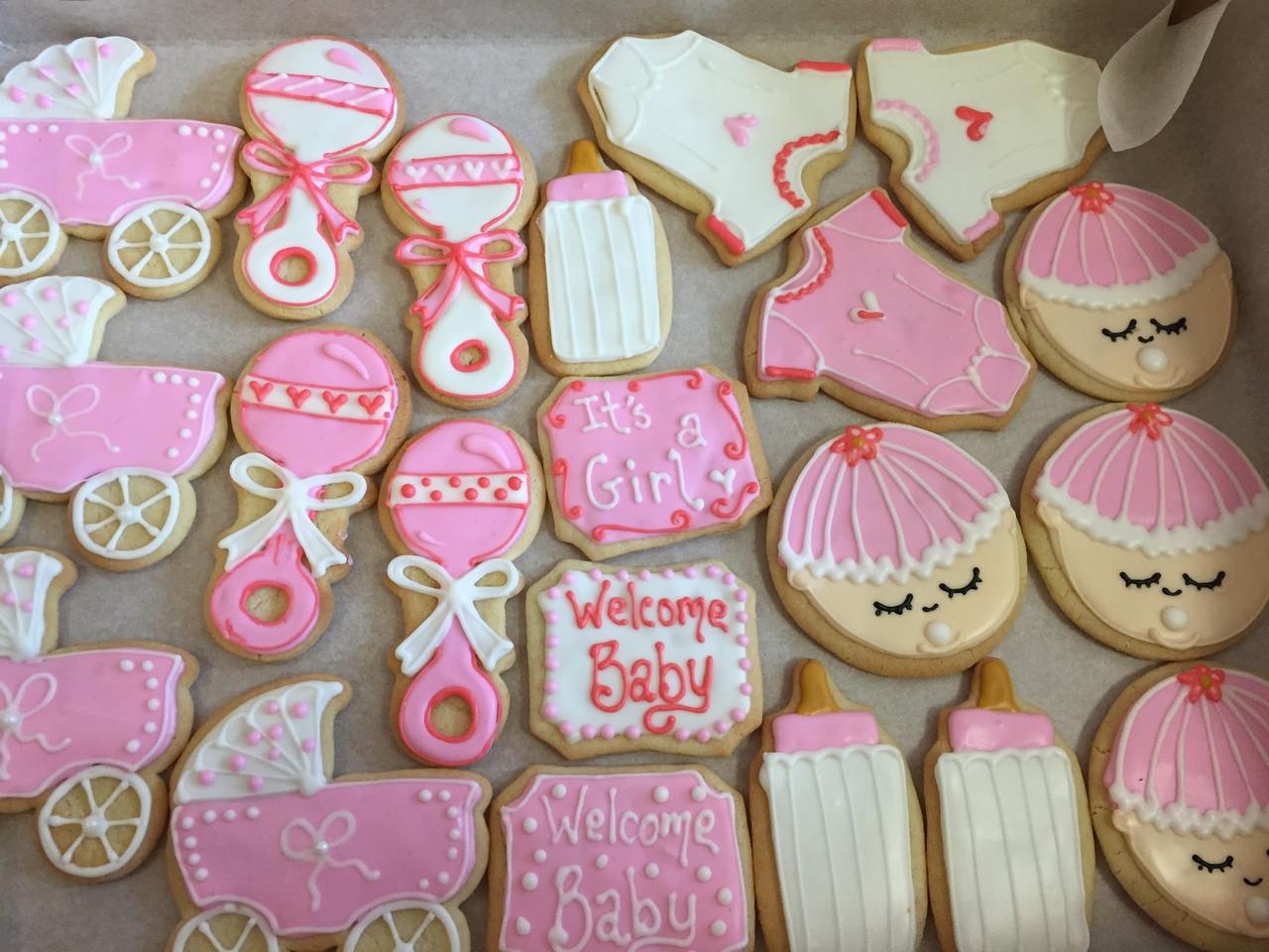 Attractive Baby Shower Cookies