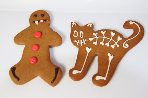 Halloween Gingerbread Cookies