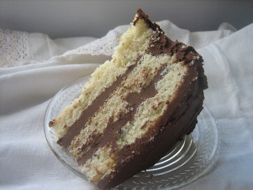 Yellow Butter Cake with Chocolate Fudge Frosting - 9""