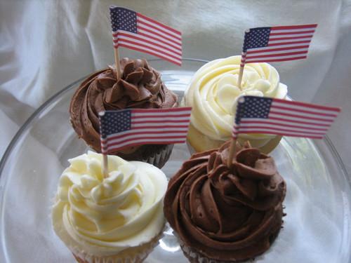 U.S. Flag Cupcakes