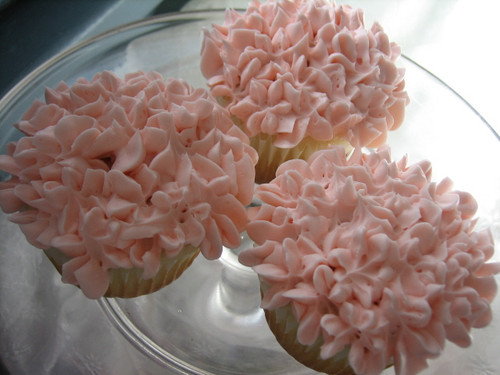 Pink Hydrangea Cupcakes