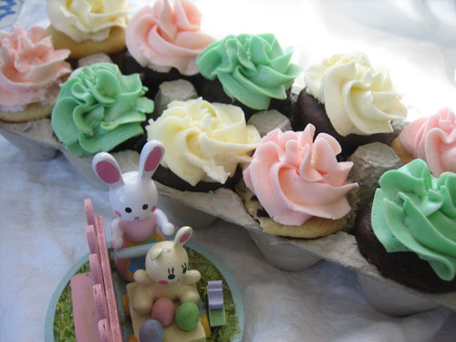 Carton of Easter Cupcakes