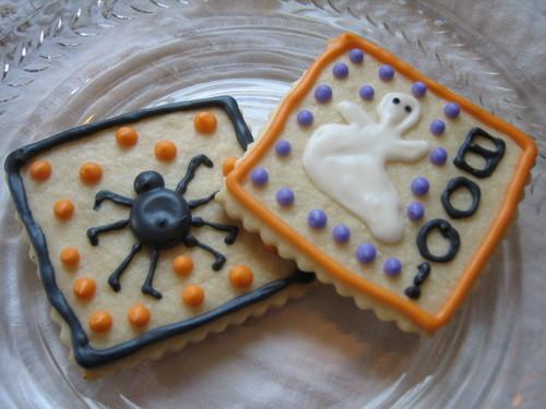 Halloween Postcard Cookies