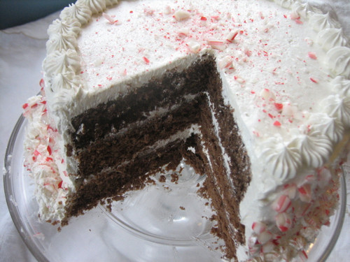 Candy Cane Chocolate Cake