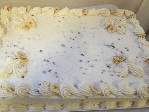 Banana Cake with Banana Cream Cheese Frosting