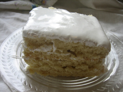 Yellow Butter Cake with Seven Minute Frosting