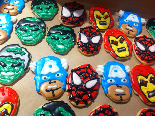Super Hero Sugar Cookies!!!