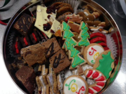 Holiday Tin of Assorted Christmas Cookies