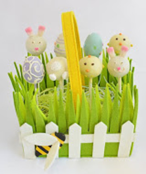 Easter Cake Pop Basket