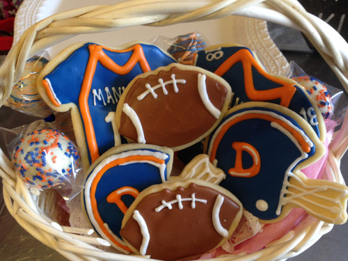 Denver Bronco Treat Basket