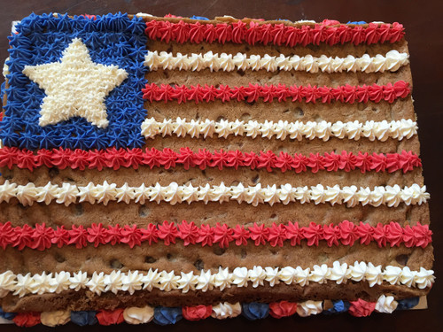 USA Flag Chocolate Chip Cookie Cake