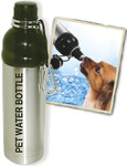 Pet Water Bottle (24 oz) SS & BLACK, Case of 24