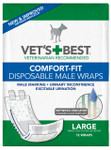 Comfort-Fit Disposable Male Wrap LG (12 Pack)