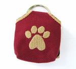 """Peace"" Tags -- Pet ID Tag Covers - Burgundy"