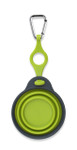 Collapsible Travel Cup w/ Bottle Holder - Small Neon Green