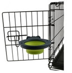 Collapsible Kennel Bowl - Small Neon Green