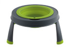 Single Elevated Pet Bowl - Large Neon Green