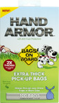 Hand Armor Extra Thick Handle Tie Bags (100 bags)