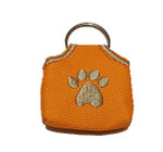 """Peace"" Tags -- Pet ID Tag Covers - Orange"