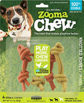 ZoomaChew 4 Count Knotted Bones, Small to Medium Dogs