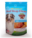 Beef Strap Chews 3 oz Bag - All Natural