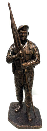 "COMMAND SERGEANT MAJOR STATUE WITHOUT BASE, WITHOUT ENGRAVING. 16"" TALL HIGHLY DETAILED MILITARY STATUE."