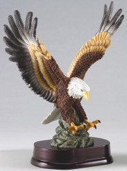 "EAGLE HAND PAINTED,IN FLIGHT, 12"" TALL WITH 10"" WING SPAN"
