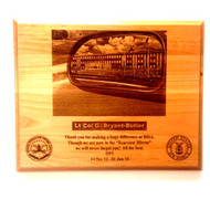 """DETAILED LASER ENGRAVED PLAQUE 12""""X15"""" OF THE DISA BUILDING. ANY PICTURE CAN BE INSERTED IN THE MIRROR. TWO LOGOS ARE INCLUDED. (This work is an original creation of Mai's Jewelry.  Please do not allow someone else to profit from our work)"""