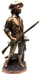 """Awesome 17"""" Total Height Highly Detailed """"CONCORD"""" National Guard Minuteman Military Statue Without Base."""