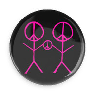 1 - PEACE TWINS BUTTON
