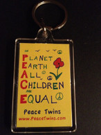 PEACE TWINS Key Chains - Order five for $24.99 - receive FREE SHIPPING !!!