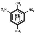 TNT Molecule Carbon Fiber Decal