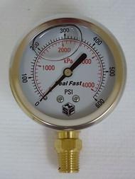 Seal Fast G256001PS Pressure Gauge  600 PSI