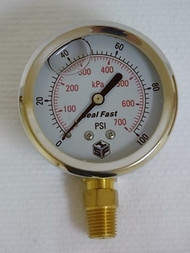 Seal Fast G251001PS Pressure Gauge 100 PSI