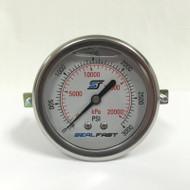 Seal Fast G2530002PSU Pressure Gauge 3000 PSI