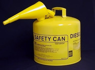 Eagle Safety Can-Diesel, 5-Gal. Yellow w/Spout, 50FSY