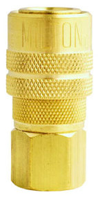 "Milton 718 3/8"" NPT Female M-Style Coupler"