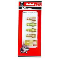 "Milton S215 1/4"" NPT T-Style  5-Piece Coupler Kit"