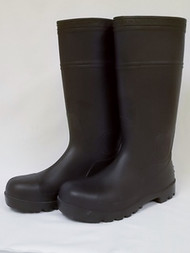 Rubber Boots with Hard Toe, 14502-10HT, Size 10