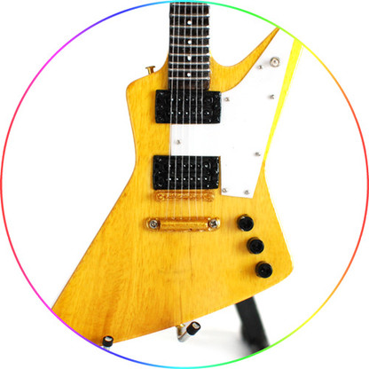 Allen Collins Lynyrd Skynyrd Guitar Xp Natural Wood Miniature