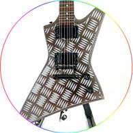 James Hetfield Metal Diamond Plate Xp Signature Miniature Guitar Collectible Metallica