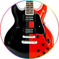 "Tom Morello Miniature Guitar Collectible Rage Againts the Machine Guitar Hero Ibanez "" Art Star"