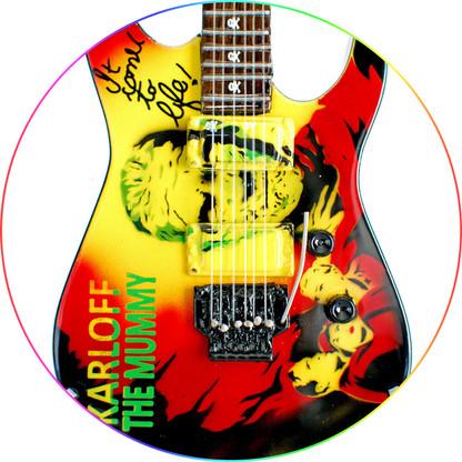 Kirk Hammett Miniature Guitar Replica Collectible Metallica ESP Karloff Mummy