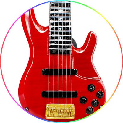 John Patitucci Red TRB Yamaha Bass Miniature Guitar