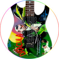 Dracula Horror Theme KH Metal Miniature Guitar Collectible