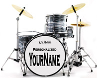 """Miniature Drums """"Your Own Drums"""" Personalize Custom Oyster Pearl Color"""